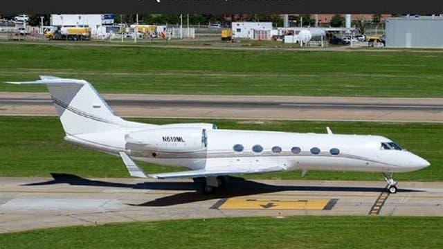 El avión Gulfstream G-IV de matrícula norteamericana que Balceda alquilaba con opción de compra (leasing) para trasladarse entre Buenos Aires y Uruguay