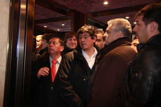 El vicepresidente, Amado Boudou, llegó al búnker del FPV. Foto: LA NACION / Guadalupe Aizaga
