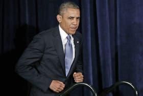 Obama, ayer, en California, antes de dar explicaciones por el polémico programa de espionaje