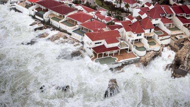 El paso de Irma en Saint-Martin