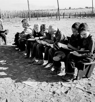 Oregon, 1939: niños de la escuela Lincoln Bench. Foto: Dorothea Lange