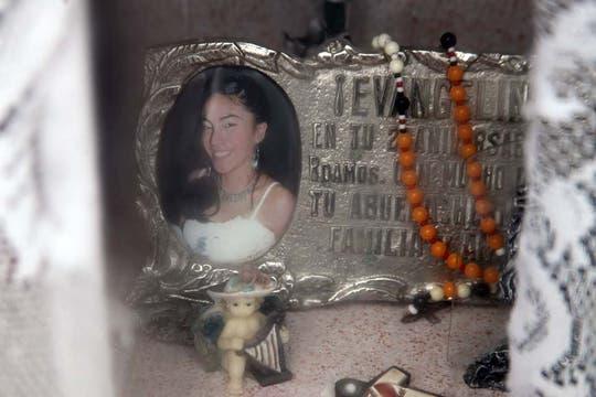 Los restos de Evangelina yacen en el cementerio local. Foto: LA NACION / Matías Aimar