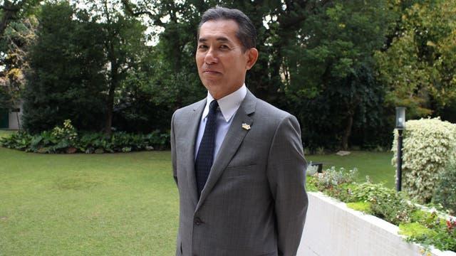 El embajador de Japón en la Argentina, Noriteru Fukushima