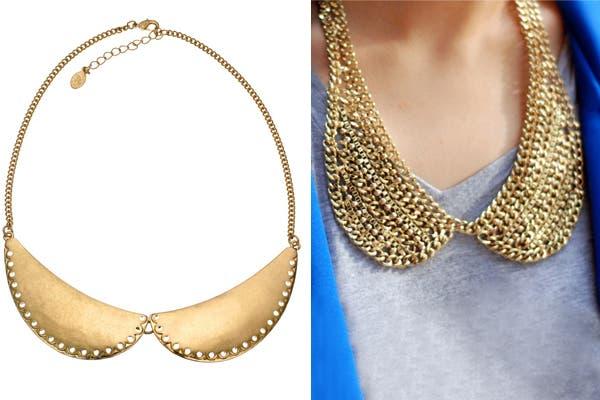 Otra opción es usar collares que imitan los distintos estilos de cuellito. ¿Qué te parecen?. Foto: encueratealamoda.blogspot.com