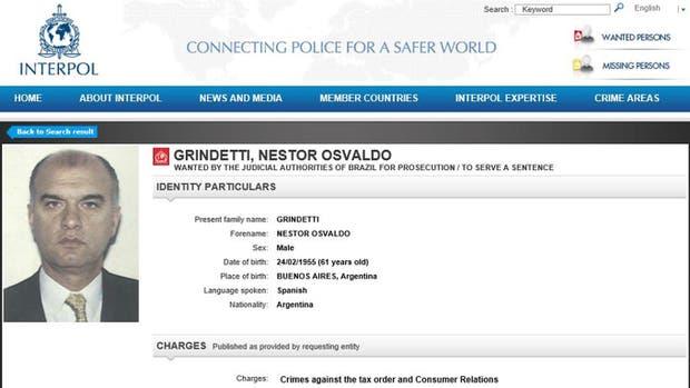 La circular de Interpol que estuvo vigente hasta el 30 de marzo pasado