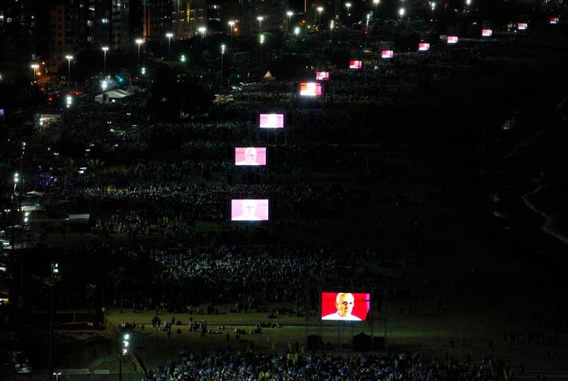 """""""Río de Janeiro se convierte esta semana en el centro de la Iglesia Católica, en el corazón joven"""", afirmó el Sumo Pontífice. Foto: Reuters"""