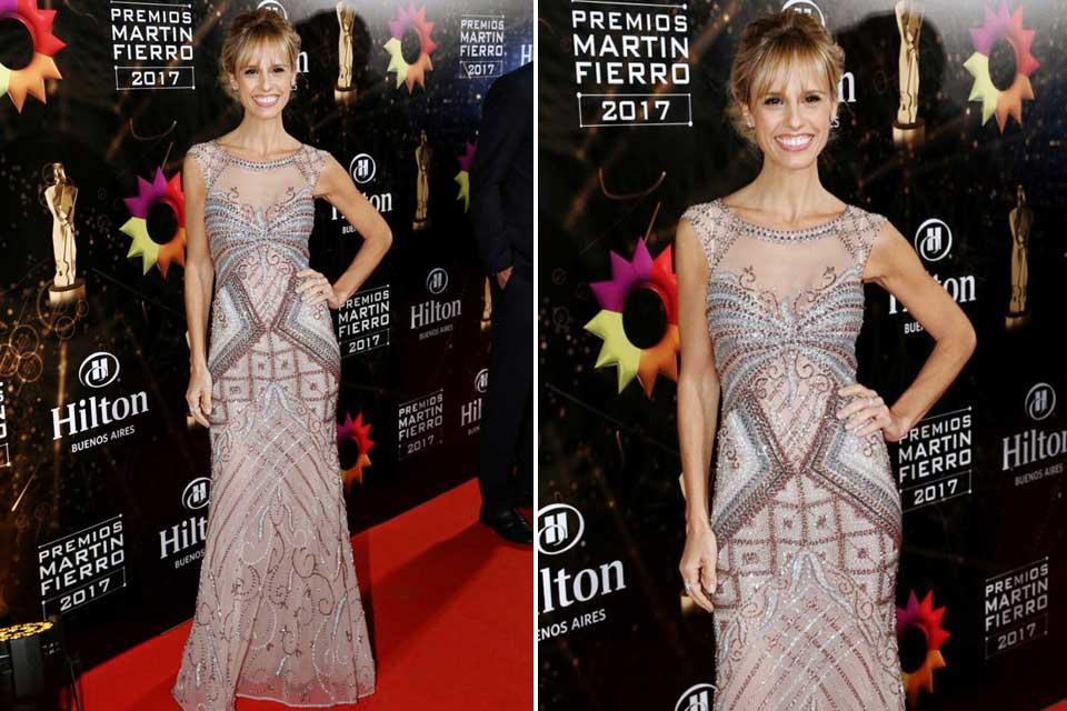 Mariana Fabbiani con un diseño joya de Gabriel Lage. La conductora de la entrega de premios se llevó todas las miradas con este vestido soñado.