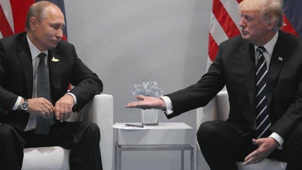 Putin y Trump en Hamburgo