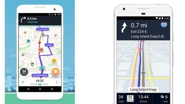 Los mapas de Waze y de Here