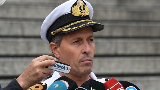 Enrique Balbi, vocero de la Armada, aseguró esta tarde en Comodoro Py que no descartan ninguna hipótesis