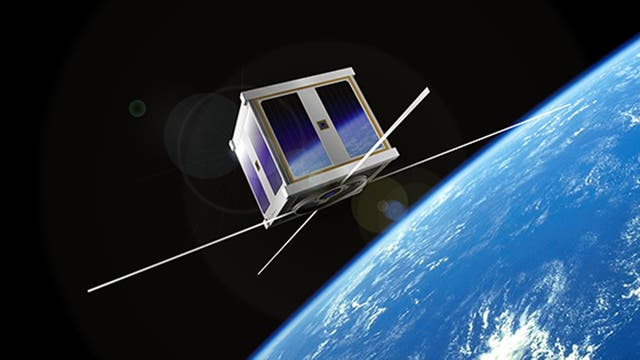 Render de CubeSat (nanosatélite)