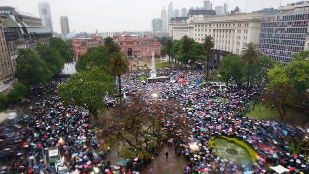 Ni Una Menos 2016 en Plaza de Mayo