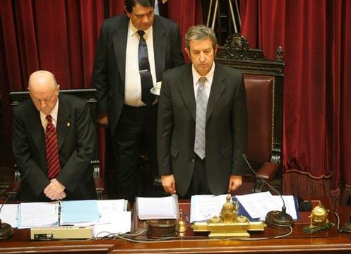 Julio Cobos, presidió casi la totalidad de la sesión. Foto: LA NACION