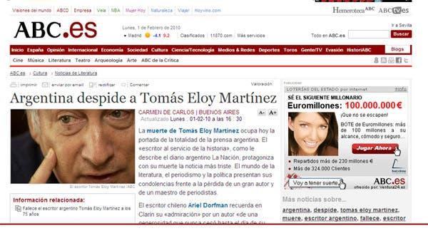 Los medios extranjeros reflejaron la noticia de la muerte del periodista y escritor.
