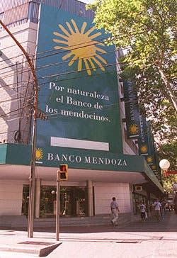 La sede central del Banco de Mendoza, en la capital cuyana