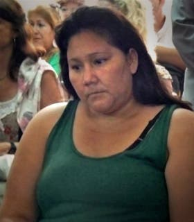 María Ovando, durante el juicio en Eldorado