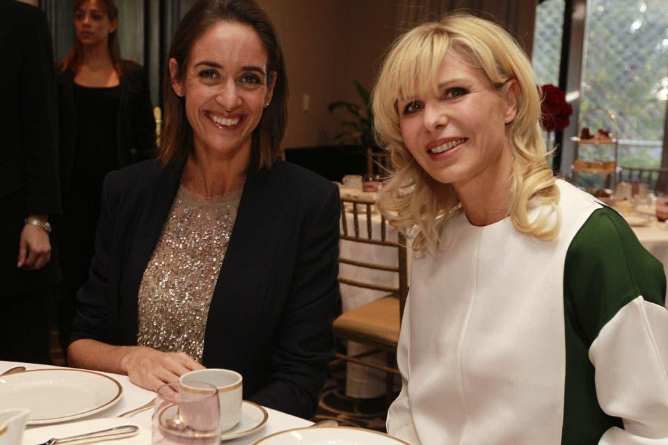 Karina Rabolini y Agustina Ayllón se mostraron muy compinches. Foto: /Fabián Marelli