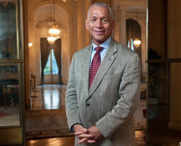 Charles Bolden Jr., el jueves en la residencia del embajador de Estados Unidos
