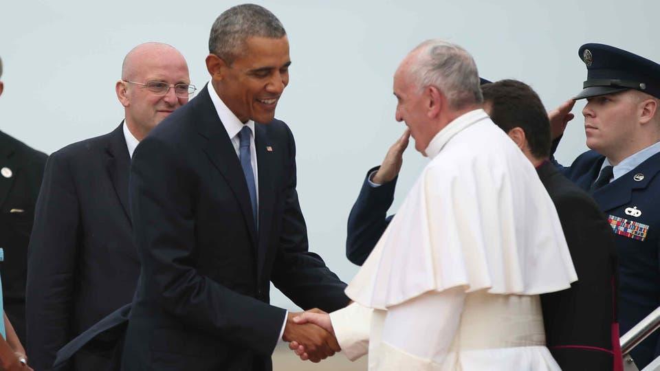 El papa Francisco fue recibido por Barack Obama en el inicio de su histórica visita a Estados Unidos