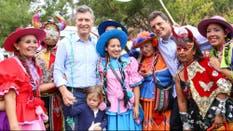 Macri y Massa participaron del carnaval jujeño