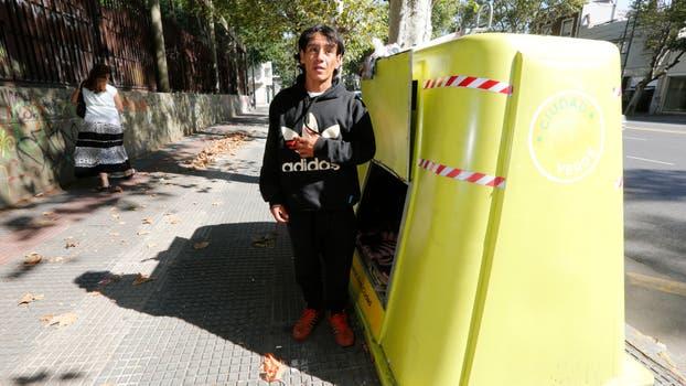 Tiene 32 años y quedó desocupado a fin de año; hacías trabajos de limpieza. Foto: LA NACION / Ricardo Pristupluk
