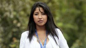 Evaliz Morales tiene 23 años y quiere suceder a su padre en la presidencia de Bolivia