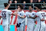 El PSG de Pastore y Di María goleó 9-0 y se consagró tetracampeón de Francia a falta de ocho fechas