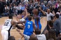 San Antonio Spurs perdió contra Oklahoma City Thunder por los playoffs de la NBA en un final cargado de polémica con Manu Ginóbili como protagonista