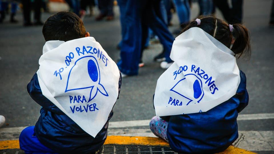 Marcha contra el 2x1. Foto: LA NACION / Fabián Marelli