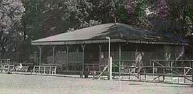 La cancha del club Buenos Aires en Palermo, donde se jugaron los primeros partidos