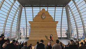 La cúpula, que era de pizarra, se reciclará como sala para eventos especiales; totalmente transparente, con vista de 360 grados hacia la ciudad y el Río de la Plata