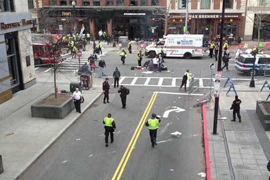 Las explosiones se produjeron en la línea de llegada. Foto: @michellemalkin