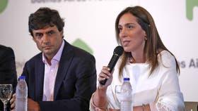 Conferencia de María Eugenia Vidal por el paro docente