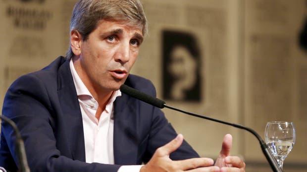 El ministro de Finanzas de la Nación, Luis Caputo