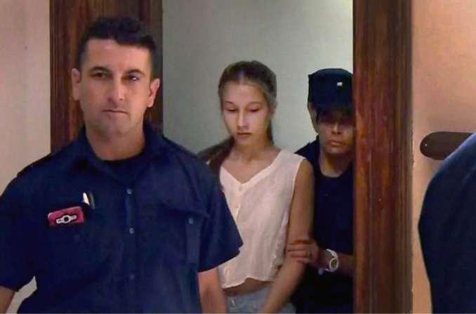 Nahir Galarza, al salir el martes del tribunal de Gualeguay