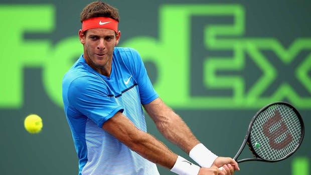 Del Potro enfrenta a Federer en el