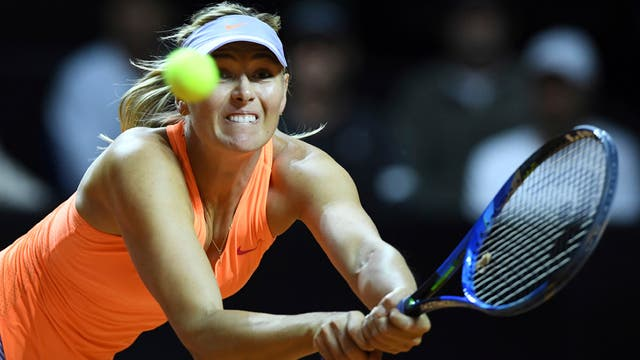 Sharapova cayó en semifinales de Stuttgart
