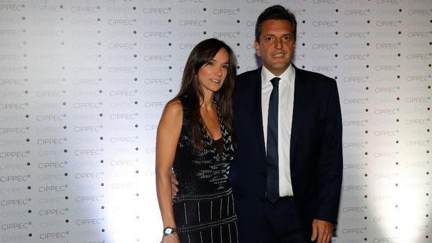 El diputado Sergio Massa junto a su esposa, Malena Galmarini. Foto: Fabián Marelli