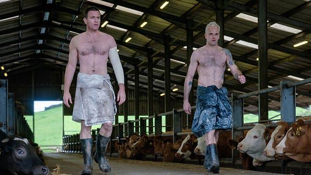 Ewan McGregor y Jonny Lee Miller, en una escena de la secuela de Trainspotting