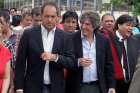 Scioli y Boudou, en la reunión de hoy del PJ