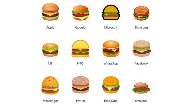 Emoji de hamburguesa generó debate en redes