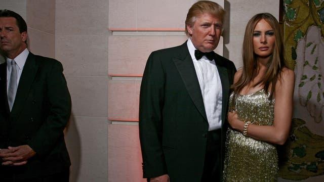 Con su tercera esposa, Melania Knauss