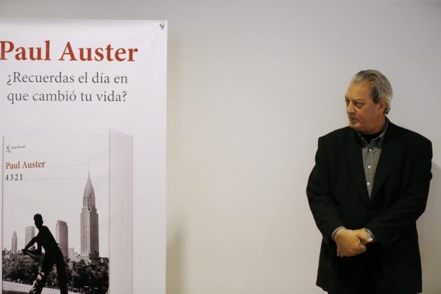 Paul Auster, en la presentación de 4 3 2 1 en Madrid