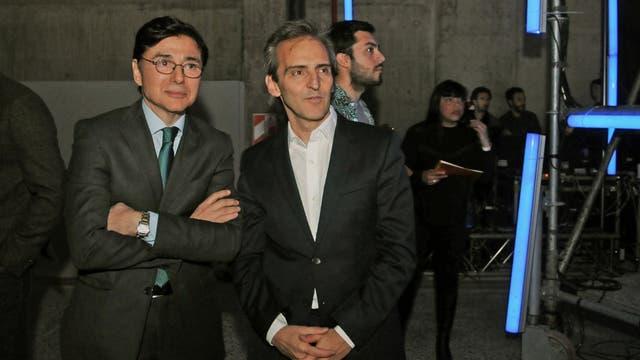 Jorge Fontevecchia (Editorial Perfil) y Guillermo Rivaben