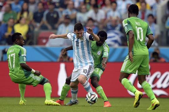 El partido frente a Nigeria. Foto: AFP