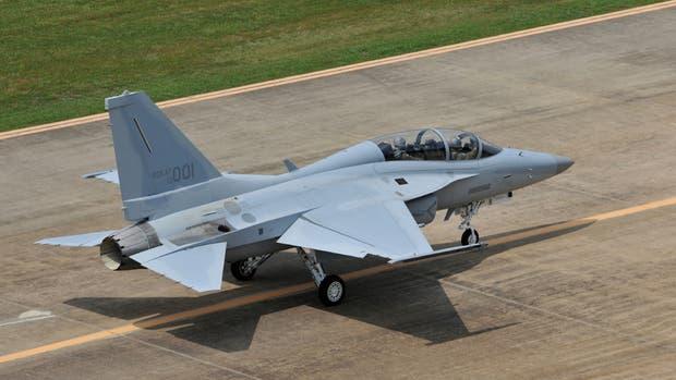 El caza coreano FA50, el avión pretendido por la Argentina para custodiar la frontera norte