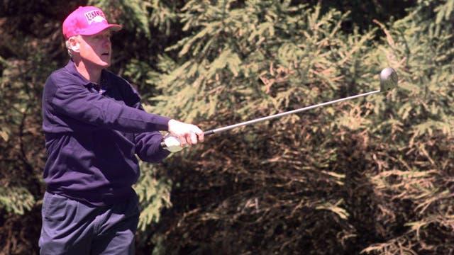 El ex presidente Bill Clinton, fanático del golf. Foto: LA NACION