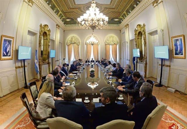 Macri recibió a los gobernadores en la Casa Rosada