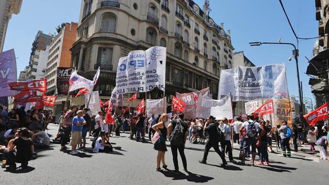 Marcha contra la reforma previsional