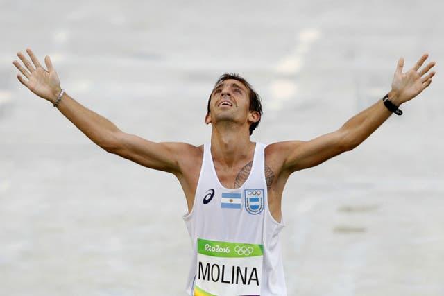 Un día de gloria para Molina; el día que concluyó el maratón olímpico de Río